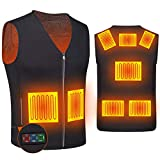 Heated Vest for Women and Men, DOACE Smart Electric Heating Vest Rechargeable, Warming heated Jacket, Lightweight Heated Coat for Hiking Skiing Fishing Camping Hunting Motorcycle, Battery Not Included