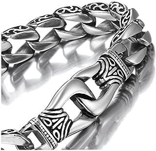 Amazing Stainless Steel Men's link Bracelet Silver Black...
