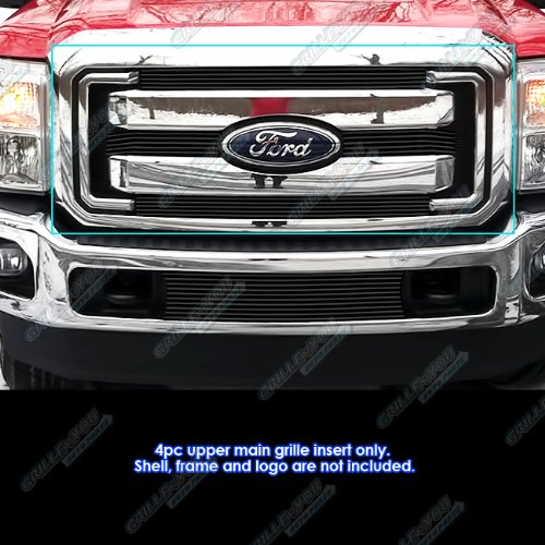APS Compatible with 2011-2016 Ford F250 F350 SD XLT Lariat King Ranch Black Billet Grille F66827H