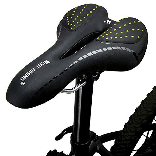 LuTuo Bequemer Fahrradsattel Herren Damen, weich Gel Fahrradsitz, Hohl Ergonomisch Sport Tourensattel Gepolstert für Mountainbike Rennrad BMX Dirt MTB City E Bike