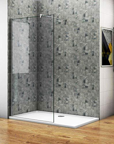 Aica Sanitär 65 x 190 cm Duschabtrennung Walk in Dusche Duschwand Seitenwand 5mm NANO Glas