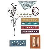 Sizzix Set de Troqueles Thinlits 11 pzas 664436 Técnica Mixta de Tim Holtz, Multicolor, Talla única