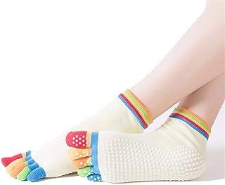 Calcetines De Las Mujeres Dedos Antideslizantes Pie Del Calcetines Atlético Ropa festiva Elegante Yoga Calcetines Cómodos Transpirables Suave Conjunto De 3 Años