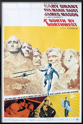 North By Northwest - Framed Movie Poster / Print (Size: 27' x 40')
