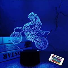❖ This is an 3D illusion lamp can show up the motorbike player when it light up, with an optical acrylic flat board with laser engraving can give you amazing 3D visual effect. This 3D night light is a creative baseball gifts for kids and family. ❖ Ma...