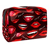 2021 Hot Style Cosmetic Bag, Travel Storage Bags, Female Special Makeup Bag Sexy Red Lips Pattern New Super Fire.