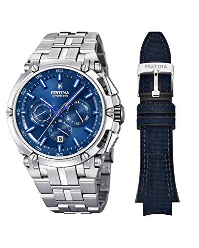 Festina heren chronograaf kwarts horloge met roestvrij stalen armband F20327/3