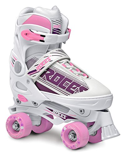 Roces Damen Modell Quaddy 1.0 Rollschuhe, US 5-8, Weiß/Pink, 550047
