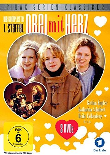 Drei mit Herz, Staffel 1 / Die komplette 1. Staffel der beliebten Serie (Pidax Serien-Klassiker) [3 DVDs]