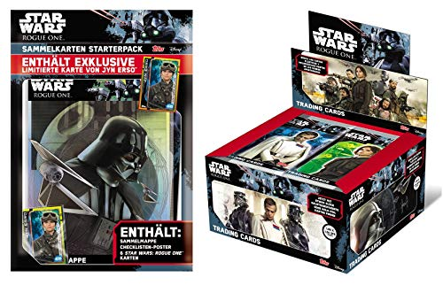 Topps Star Wars Rogue One Sammelkarten Set (Display + Starter)