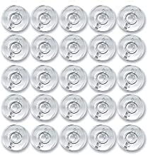 Zenith Clear Plastic 50 Bobbins for Any Automatic Sewing Machines (Singer/Usha/Brother)
