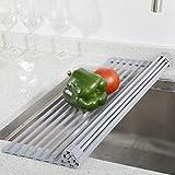 YIHONG 2 Pack Roll Up Dish Drying Rack, 17 x13...