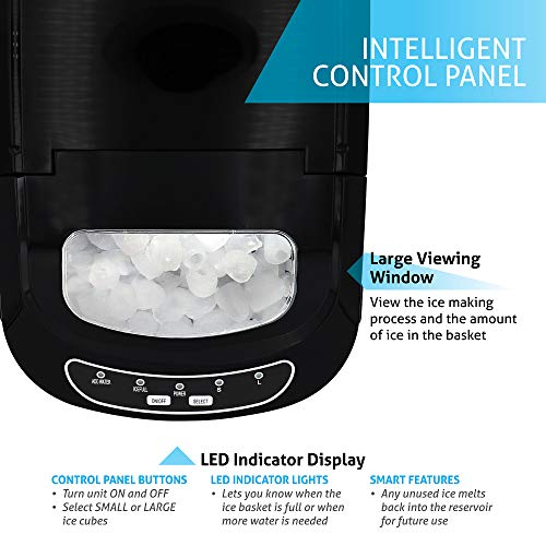 Northair Stainless Steel Portable Countertop Ice Maker with 26 lb....