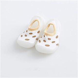 LiuQ, LiuQ Bebé Calcetines 6 Los niños Leopardo de Primavera y Verano for 36M de Calcetines Interior Zapatos Bebé Antideslizantes Calcetines del Piso con Suave Suela de Goma (Color : 6, tamaño : 13 to 18M)