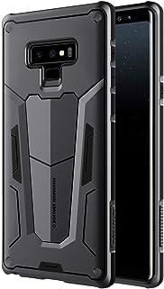 حافظة حماية ديفيندر سيريس لهاتف سامسونج جالكسي نوت 9 من نيلكين، مصنوعة من البولي كربونات والبولي يوريثين الحراري، لون اسود
