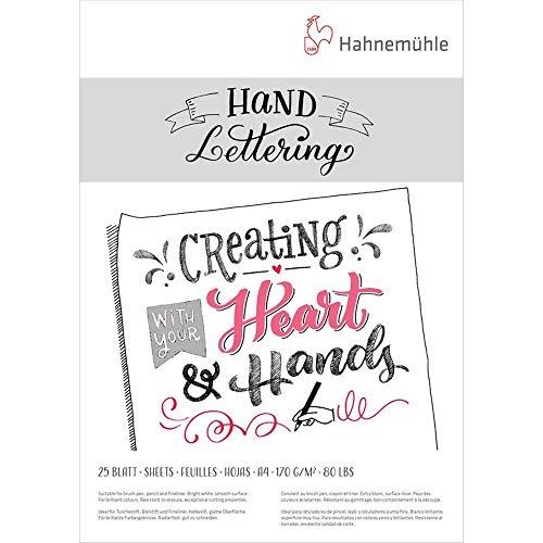 Hand Lettering Block 170g/m², DIN A4, 25Blatt