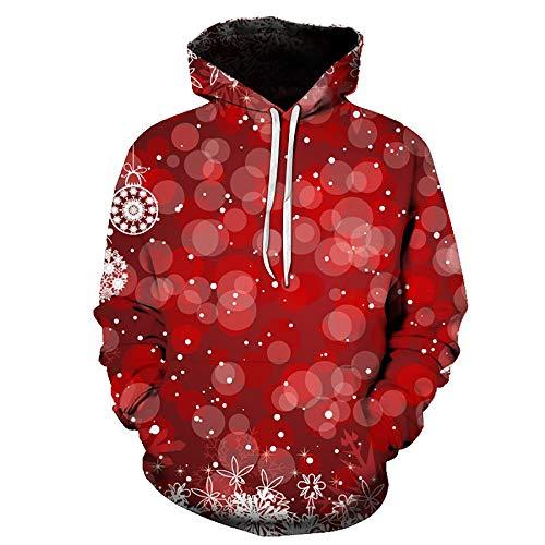 Zaima 3D Hoodies Men/Women Christmas Sweatshirt Autumn Winter Long Sleeve Hooded Hoodie Tracksuit Sweat Coat Casual Series Sweater Santa Claus S-6XL