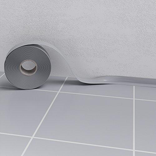 Weichsockelleiste Hellgrau Muster (5cm) Sockelleisten PVC selbstklebend Scheuerleiste Knickwinkel 52mm
