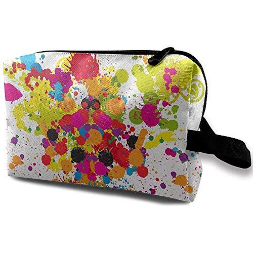 Voyage Cosmetic Bag Portable Sac À Main Peinture Couleur Trousse De Toilette Petit Maquillage Sacs Cas Organisateur