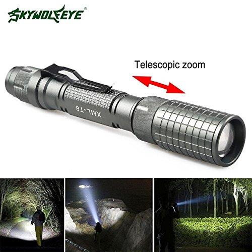Lampe de poche uniquement : LED étanche lampe de poche T6 Lampe torche lumière Lanternas militaire lampe de poche Camping plongée lampe de poche + 2 * 18650 Batterie