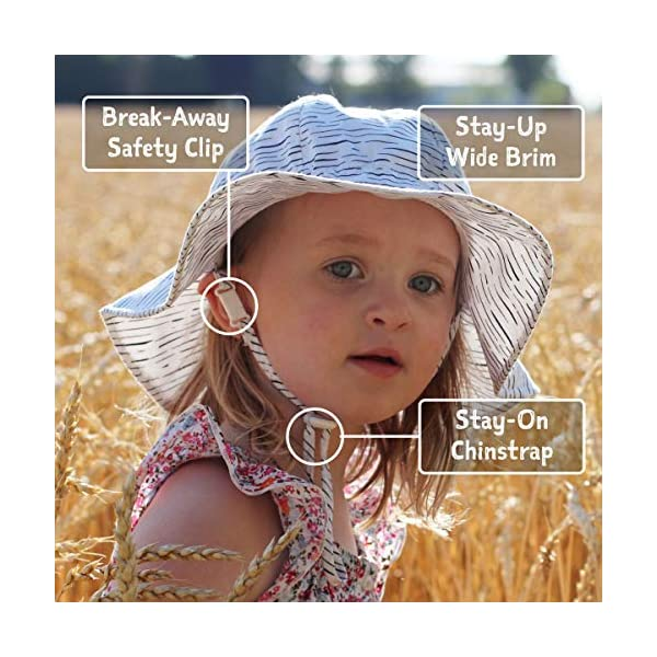 JAN & JUL GRO-with-Me Adjustable Toddler Sun-Hat with UV Protection for Baby and Kids, Cotton