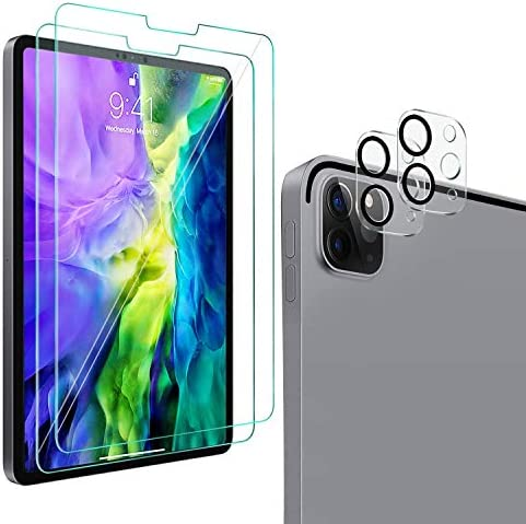 2 2 Pack QHOHQ Screen Protector for iPad Pro 12 9 2020 4th Gen with Camera Lens Protector Tempered product image