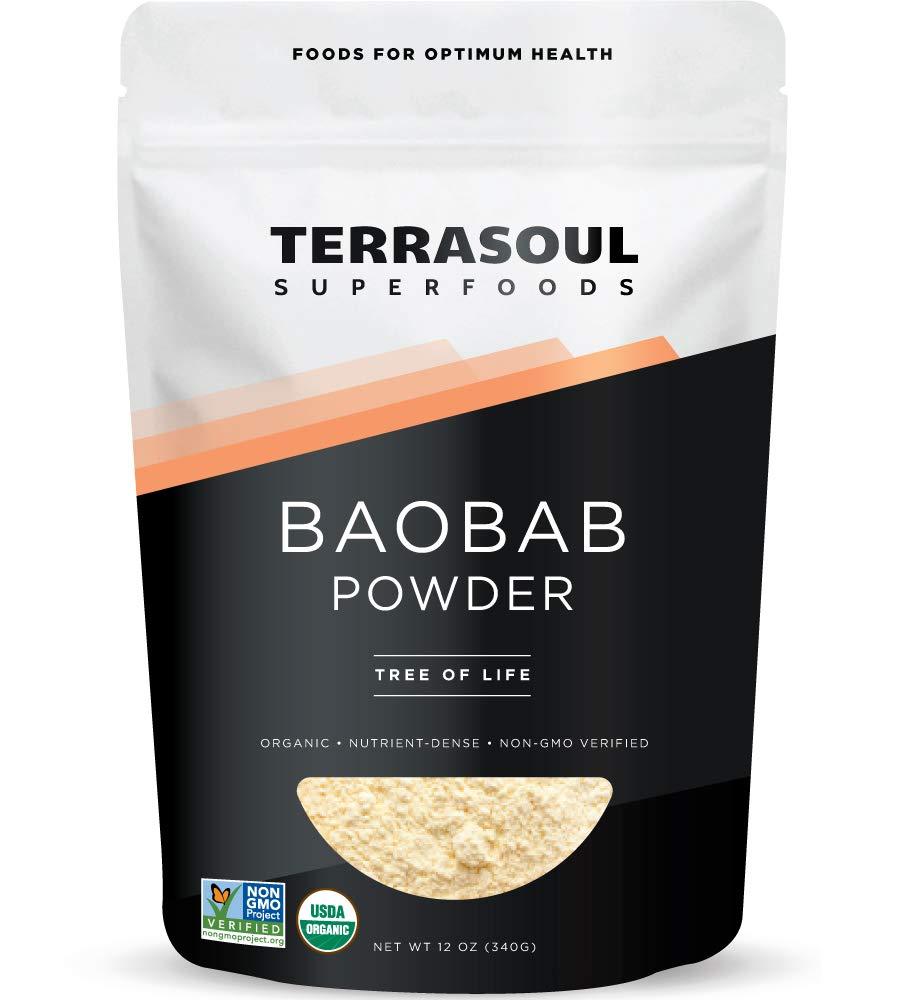 Terrasoul Superfoods Organic Baobab Fruit Powder, 12 Ounces