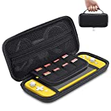 ESR for Nintendo Switch Lite Carrying Case, Protective Hard Portable Travel Carry Case with Multiple Storage for Nintendo Switch Lite Games & Accessories, Black