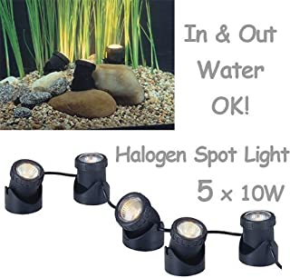 50w Halogen Submersible Light for Water Gardens and Ponds, Set of 5