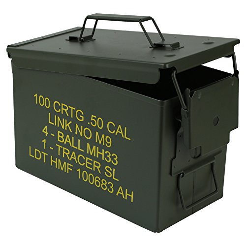 HMF 70011 Munitionskoffer, US Ammo Box, Metallkiste, 30 x 19 x 15,5 cm, grün - 5