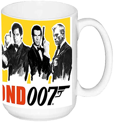 MasTazas James Bond 007 Taza Grande Ceramica 15 oz ≈ 443 ml