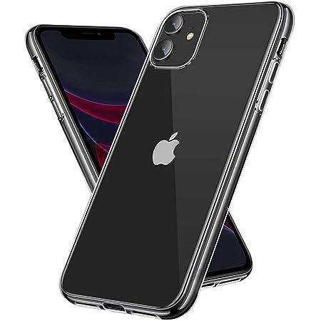 【Amazon限定ブランド】iPhone 11 ケース クリアケース - スマホケース iPhone11 ケース 「ストラップホール/耐衝撃/擦り傷防止/滑り止め/一体型/人気/おしゃれ」 アイフォン11 6.1インチ Arae (クリア)