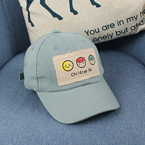 wtnhz Fashion items Children's hats, new smiling face, big cloth label, fashion children's sun hats, children's outdoor sun protection children's caps