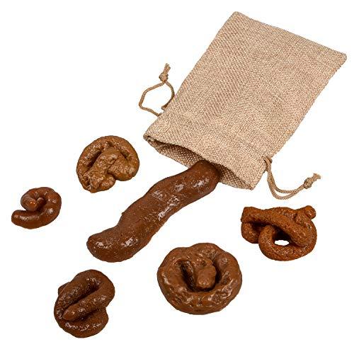 Cetornie 6 Stück Fake Poo Soft Fake Dog Poo Prank Witz Spaß Spielzeug Trick Poo Neuheit Prank Turd für Aprilscherzen Halloween