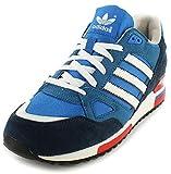 adidas Originals ZX750, Zapatillas de Estar por casa Hombre, Azul-Blau (BLUBIR/RUNWH), 43 1/3