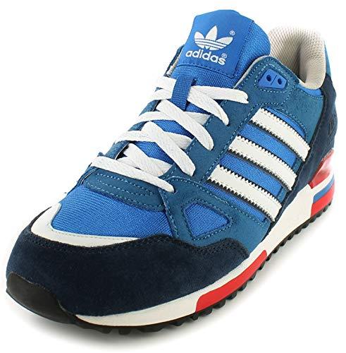 adidas Zx750, Scarpe da Basket Uomo, Blu/Rosso, 43 1/3 EU
