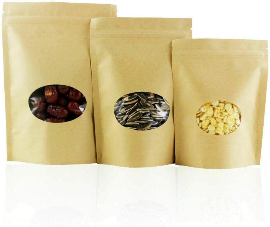 50pcs New item Zip 4 years warranty Lock Kraft Bag Heat Resealable Sealable Pou Grade Food