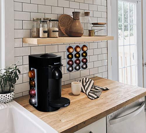 R&R SHOP - Porte-capsules pour Nespresso Vertuo, surface type mur, réfrigérateur pour café Nespresso Vertua avec autocollants 3M, 4 capsules chacune, lot de 2
