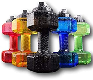 Dumbbell Shaped Water Bottle, Big Capacity, BPA Free, Flip Top Leak Proof lid, 75 oz (2.2 L)