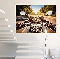壁絵 ギリシャのエアバイクのヴェネツィアの夏の旅行美容ポスターの都市景観画像アート 絵画 アートフレーム ポスター アートパネル インテリア キャンバス絵画 飾り絵 居間 ベッドルーム