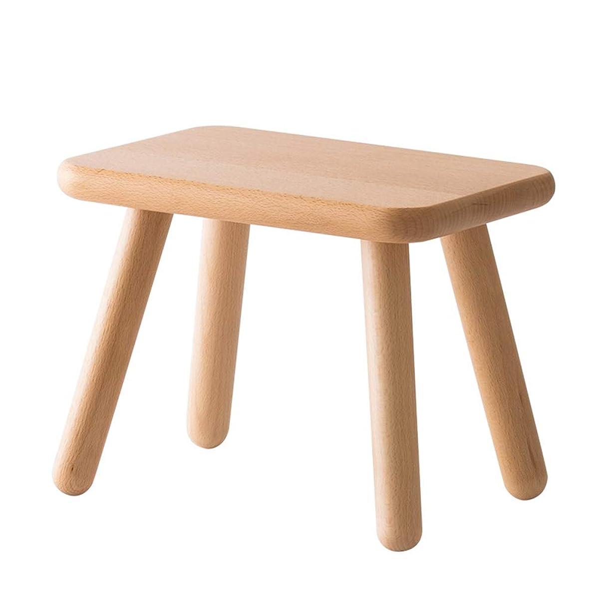 フォームツールふくろうソリッド木製スツール、耐久性のある丈夫な滑り止めウッドステップスツール、椅子または大人用フットスツール、家庭用多目的滑り止めシート。