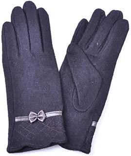 SGJFZD Fashion Women Gloves Cute Bow Warm Warmer Mitts Full Finger Women Autumn Winter Windbreak Thermal Gloves (Color : Black, Size : OneSize)