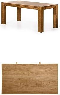 Alkove - Hayes - Table à rallonges en bois massif, 180 cm, Chêne sauvage et Table à rallonges