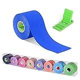 Cinta Kinesiología, Kinesiología Tape, Cinta quinesiológica, cinta de soporte, rollo de 5m x 5cm, elástico e impermeable para el...