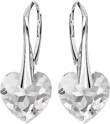 *Beforya Paris* assoluta novità - *Fantasie cuori * - Crystal - Orecchini in vero argento 925 - con cristalli di Swarovski Elements - Belli orecchini da donna in argento - Gioielli con confezione