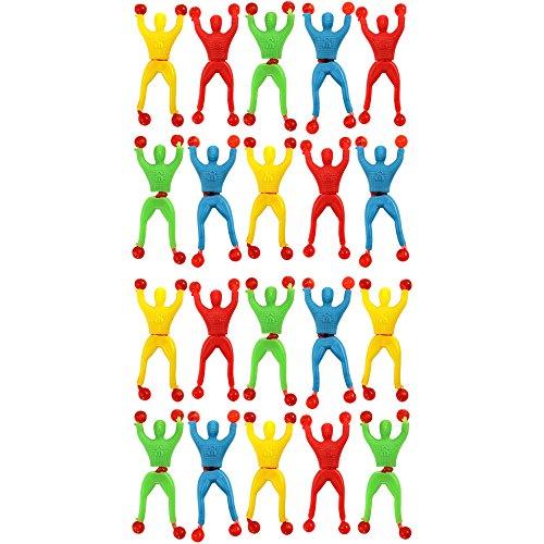 com-four® 20x Sticky Ninja Fensterkletterer [Auswahl variiert], 9 cm