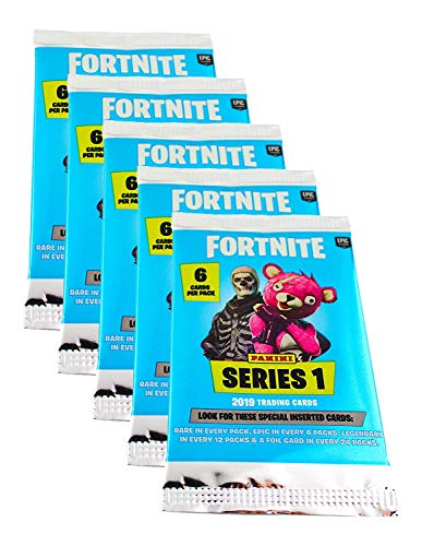 Fortnite Panini Sammelkarten Trading Cards Serie 1 (2019) -5 Booster (30 Karten)