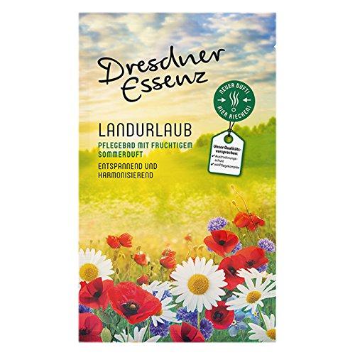 12er Pack Dresdner Essenz Pflegebad Wellnessbad Landurlaub 12 x 60 g, Badezusatz, Badepulver, Badesalz, Körperpflege