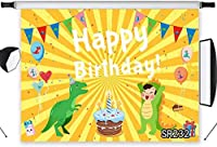 HD Green Dinosaur Birthday Backdrop for Kids 10x7ft Birthday Party Photography Background Cake Ta e Banner Decor Photo Shoot Studio Props SR232