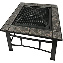 RayGar FP44 Multifunctional 3 in 1 Outdoor Garden Square Fire Pit
